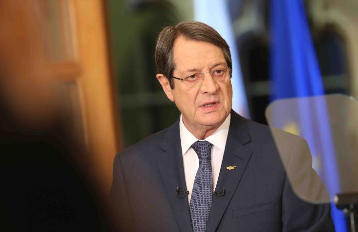 Ο Αναστασιάδης ενημέρωσε τον Τουσκ για τις προκλήσεις της